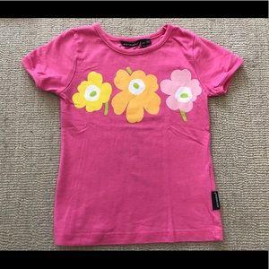 Marimekko Pink Flower T-Shirt (4T)